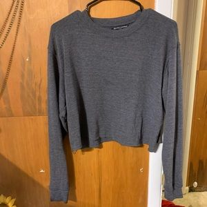 Brandy Melville long sleeve thin cropped crew